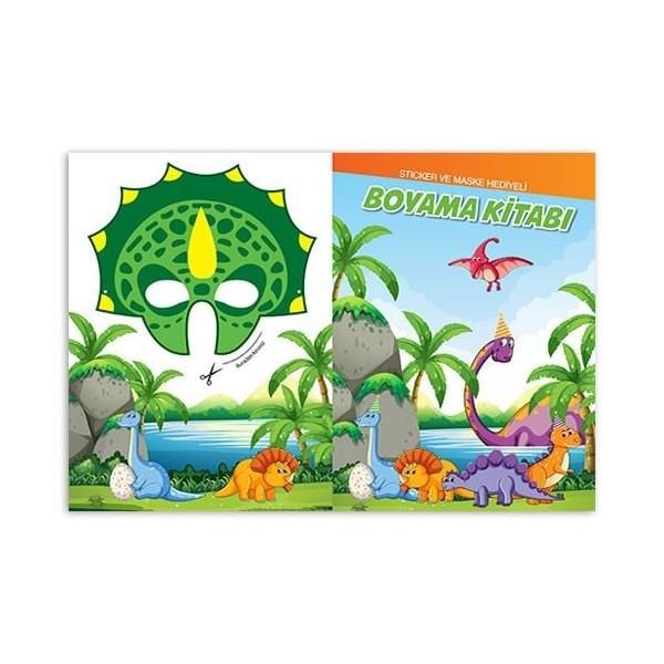 Renkli Dinozorlar Dinazor Boyama Kitabi