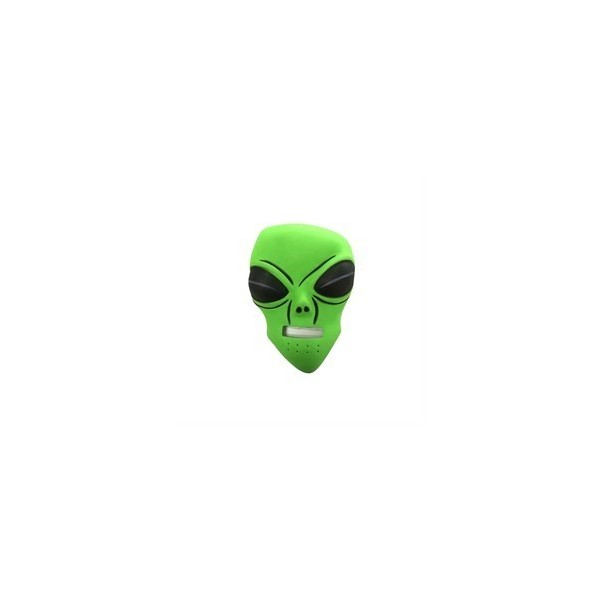 Cadılar Bayramı Temaları Halloween Yeşil Uzaylı Maske Dekor