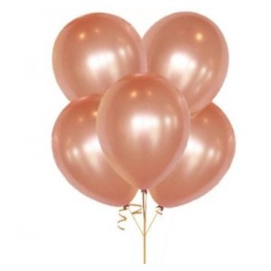 METALİK ROSE GOLD LATEX BALON