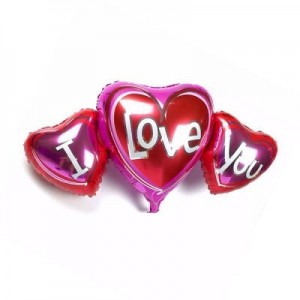 I Love You Pembe 3 Set Folyo Balon