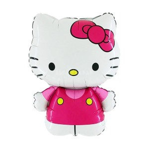 Hello Kitty Pembe Folyo Balon 75cm