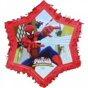 Spiderman Pinyata + Sopası