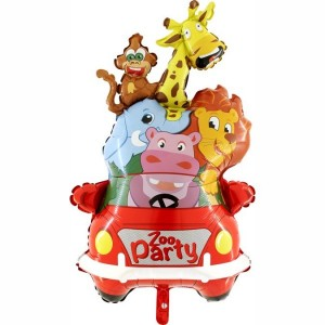 Safari Zoo Party Folyo Balon (90cm)
