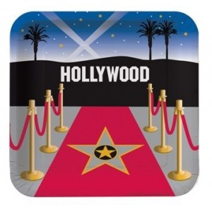 Hollywood Partisi 8 li Kare Tabak