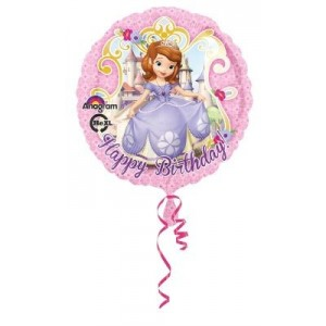 Prenses Sofia Happy Birthday Folyo Balon