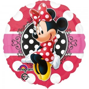 Minnie Mouse Portrait Yuvarlak Folyo Balon (18″)