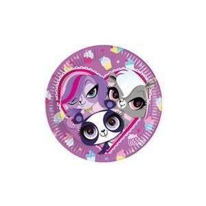 Littlest Pet Shop Minişler Partisi 8li Tabak